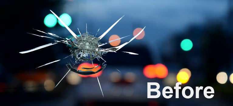 windshield rock chip before repair Fargo